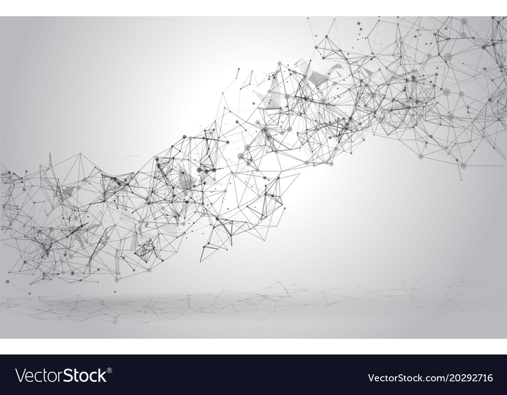 Abstract polygonal space background with