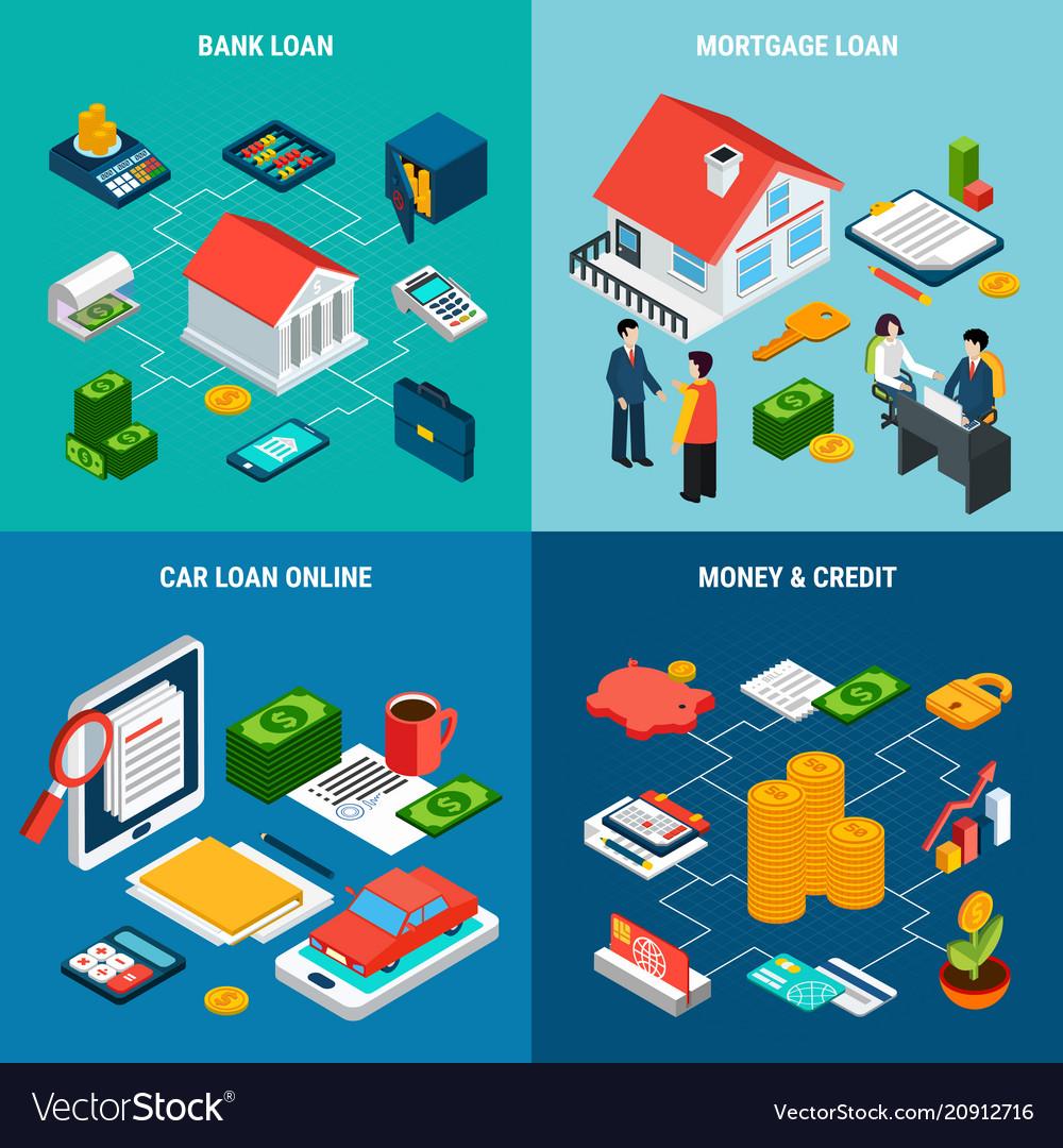 Credit loan design concept