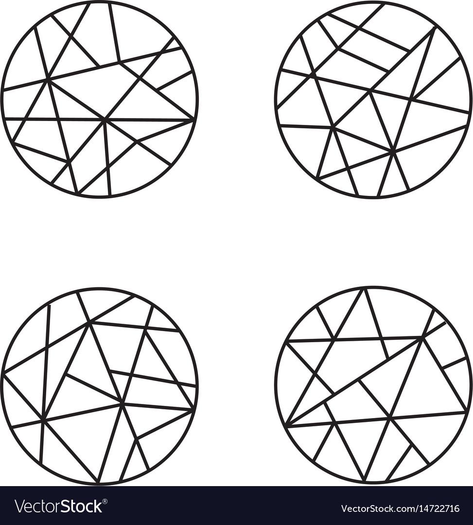Logo design geometric round logo emblem