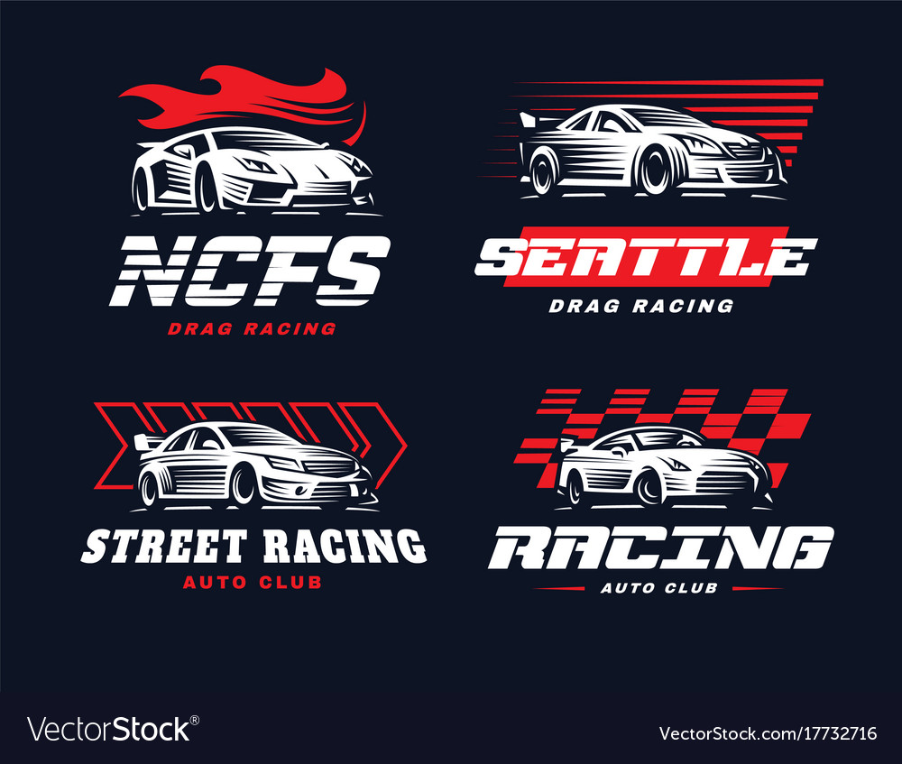 Sport car logo on dark background