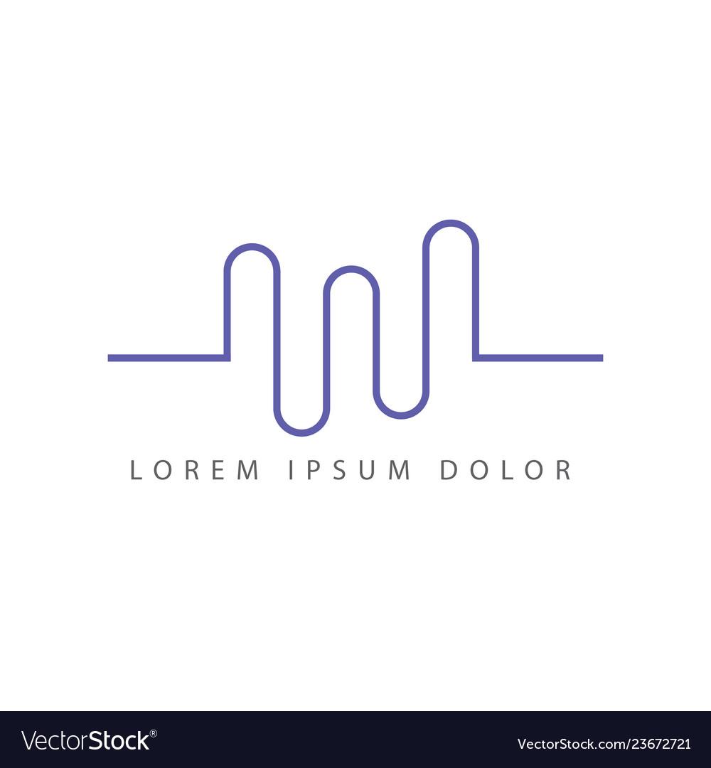 3 wave logo design