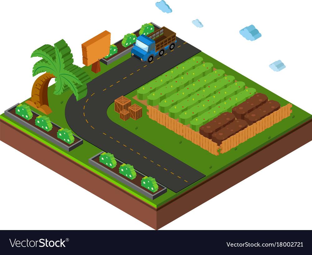 3d Design For Farmland Royalty Free Vector Image