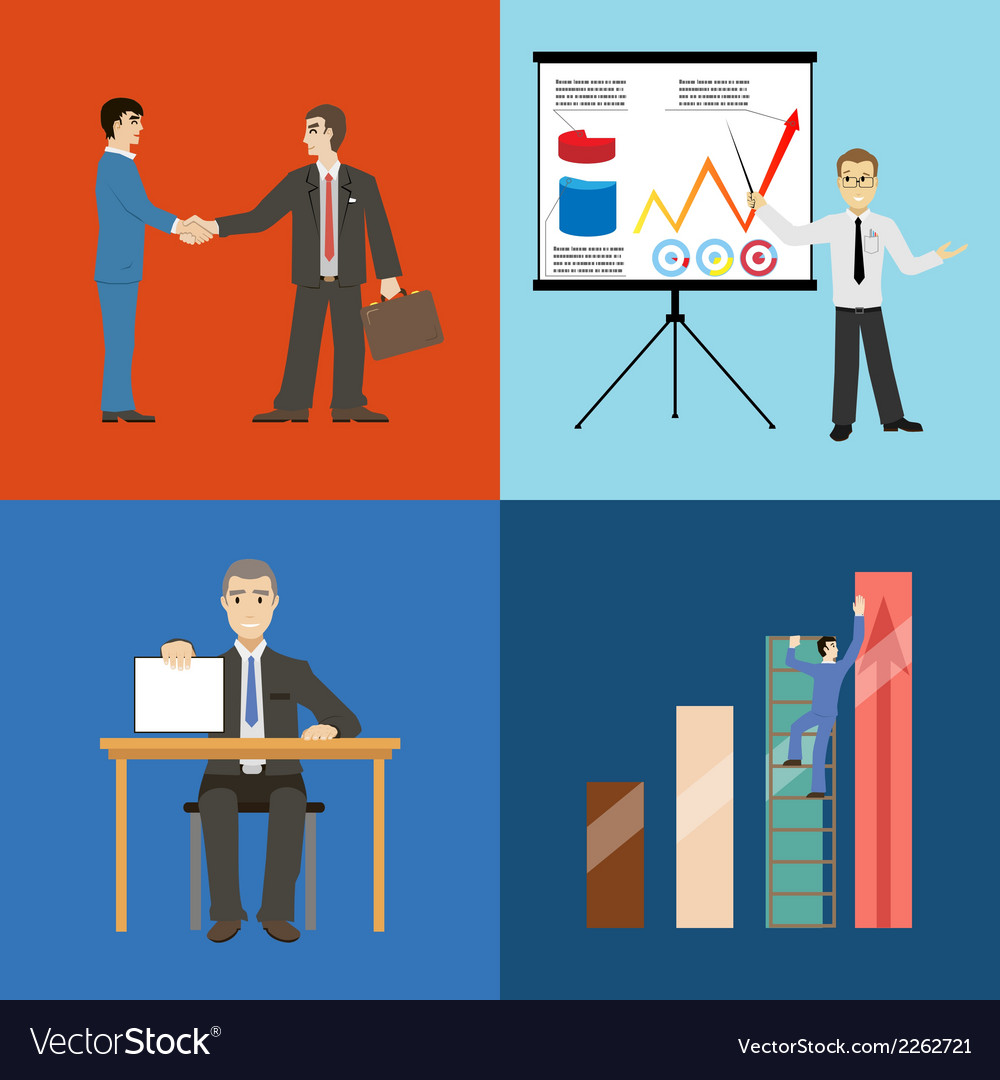 Business Partnership Agreement Conclusion Vector Image