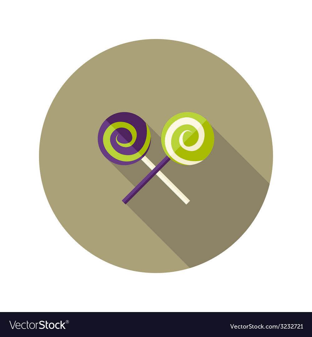 Christmas Spiral Candies Stick Flat Icon