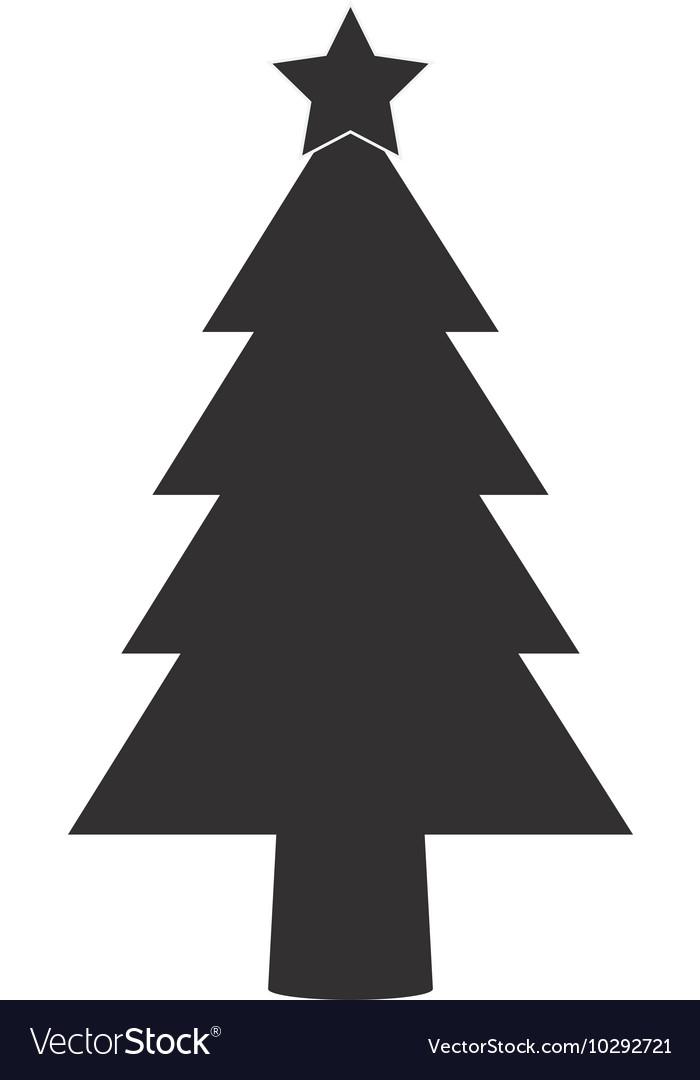 Christmas tree silhouette icon