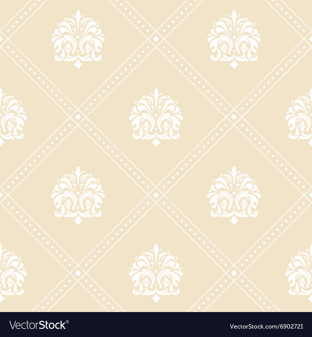Classic Floral Wallpaper Royalty Free Vector Image