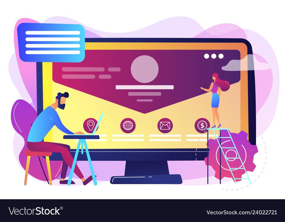 Corporate website concept