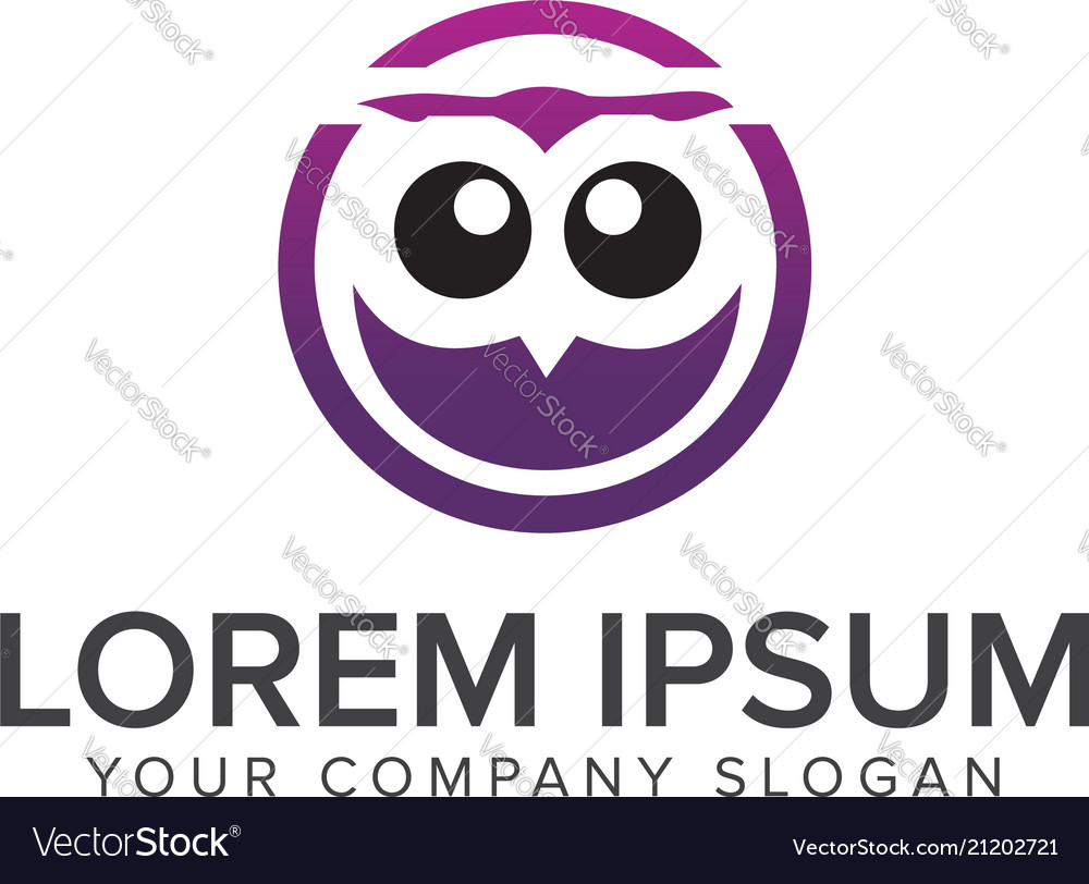 Eyes owls education logo design concept