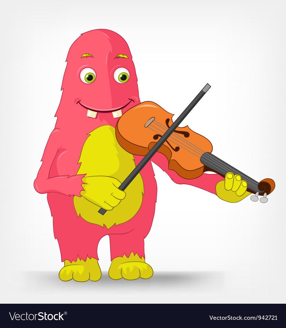 Funny Monster Violinist