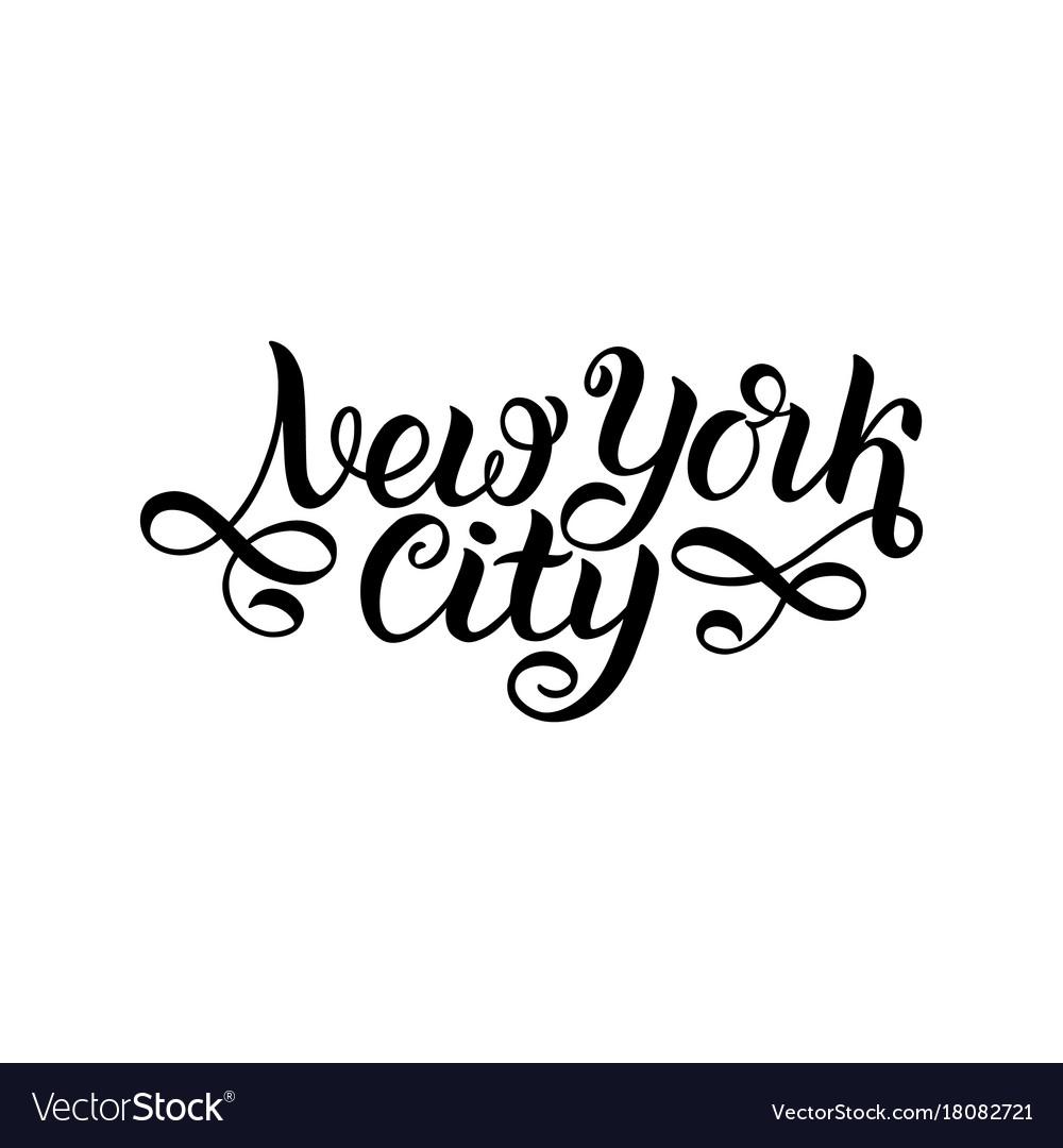 New york city ny logo isolated black nyc label