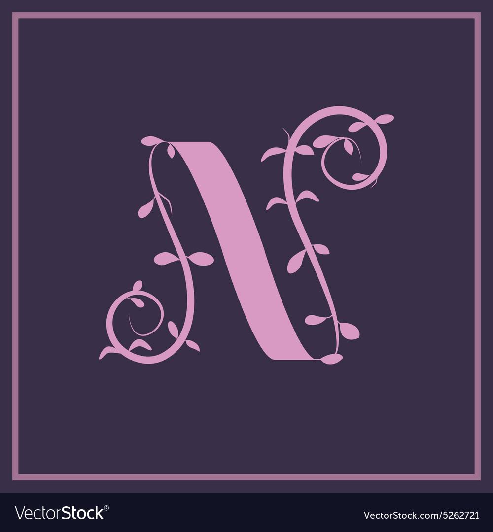 Nleaf vector image