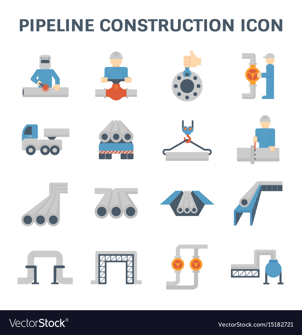 Pipeline construction icon