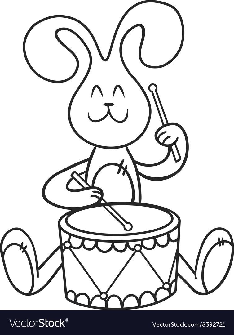 Заяц с барабаном картинки для детей