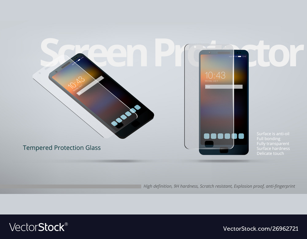 Screen protector tempered transparent glass ad