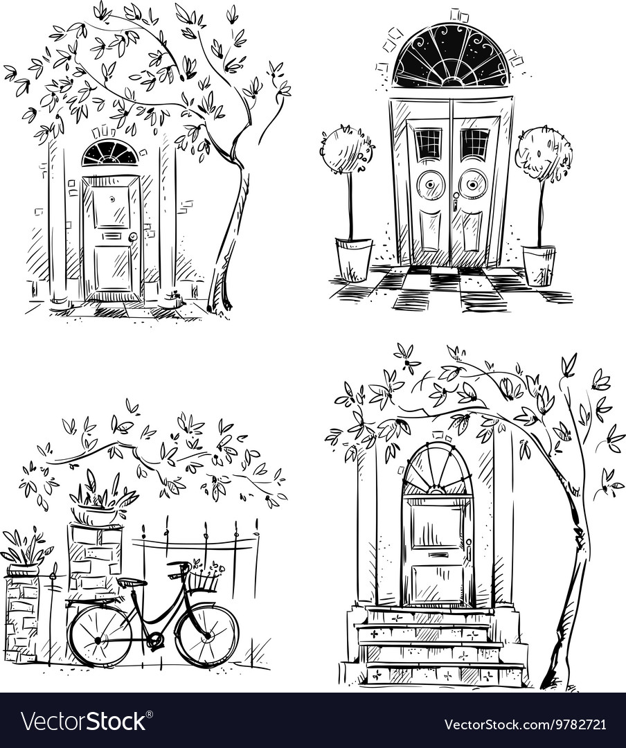 Set of architecture details drawings