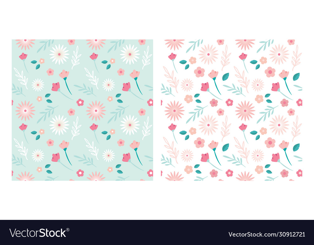 Simple seamless flower patterns can be used