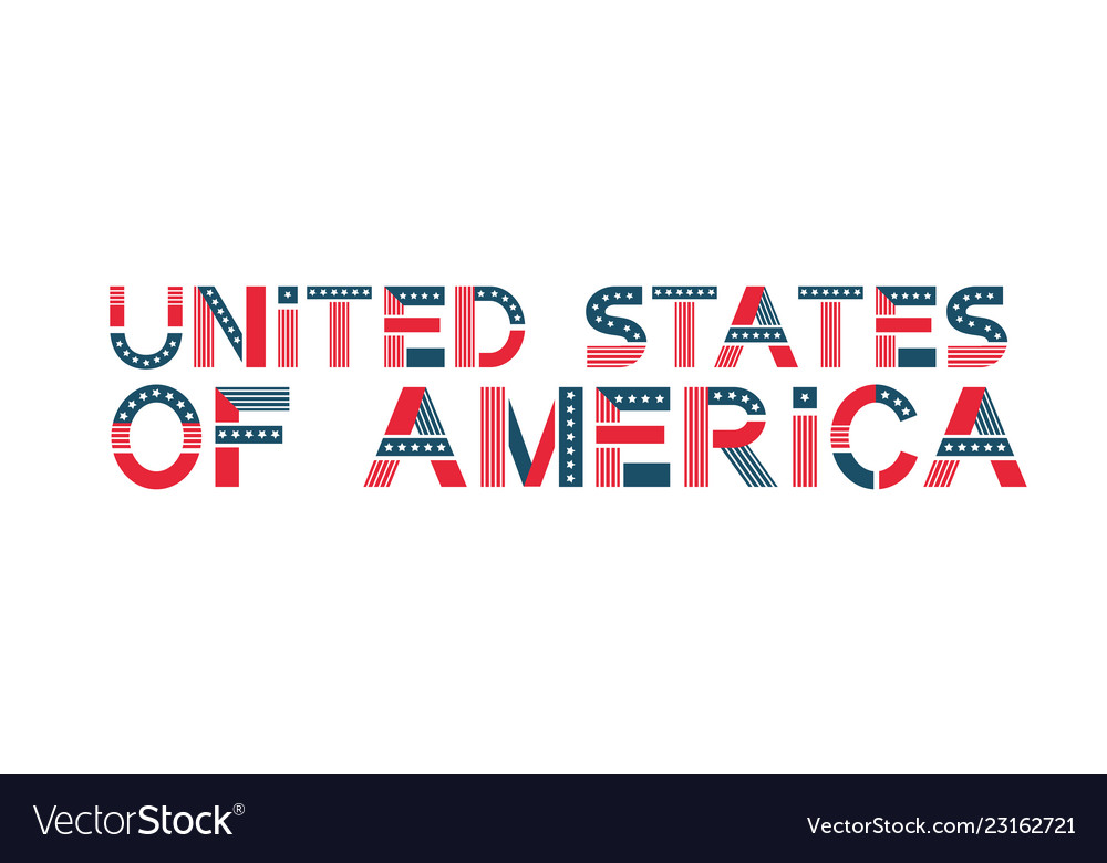 Text united states of america usa banner