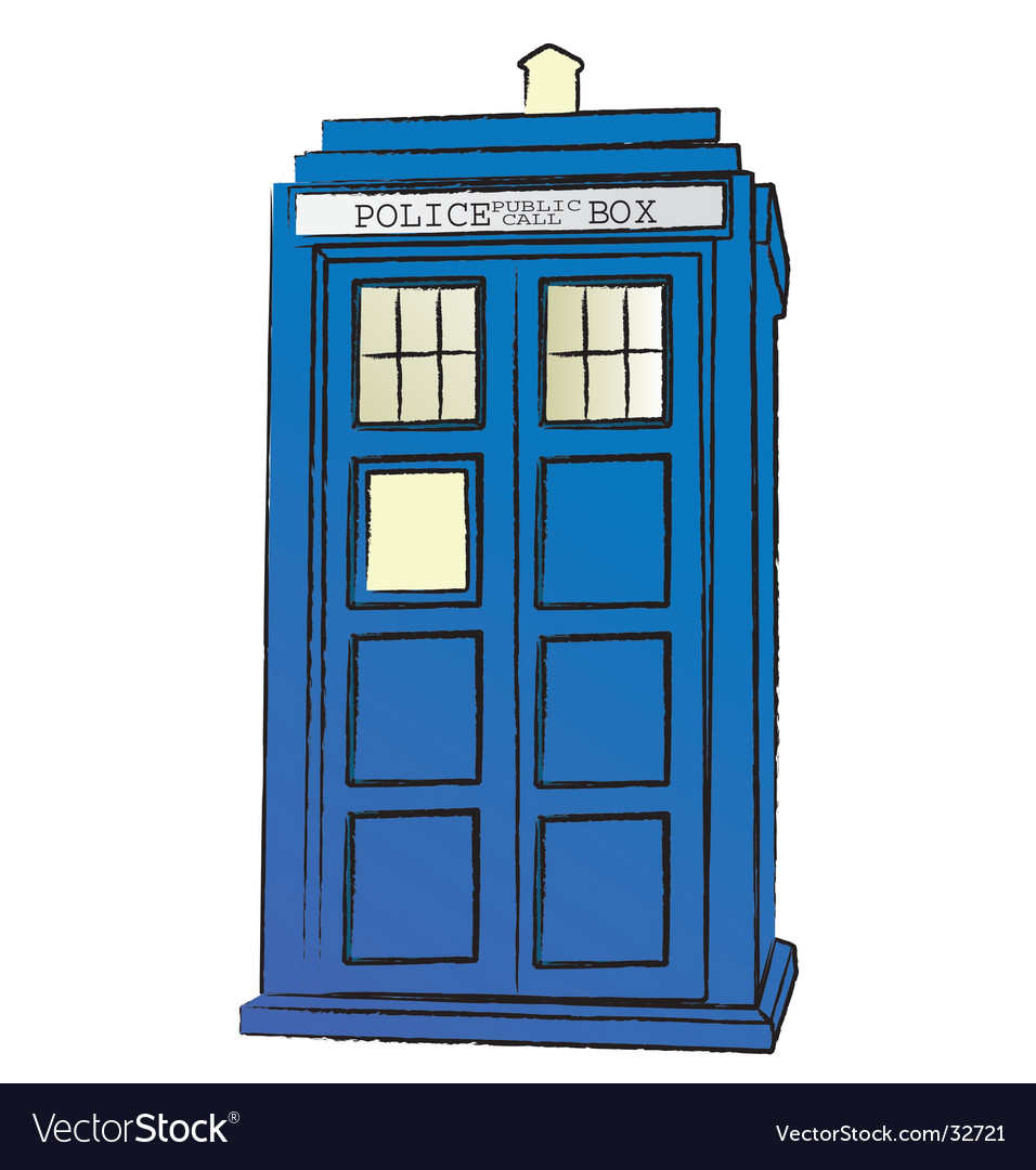 The tardis vector image