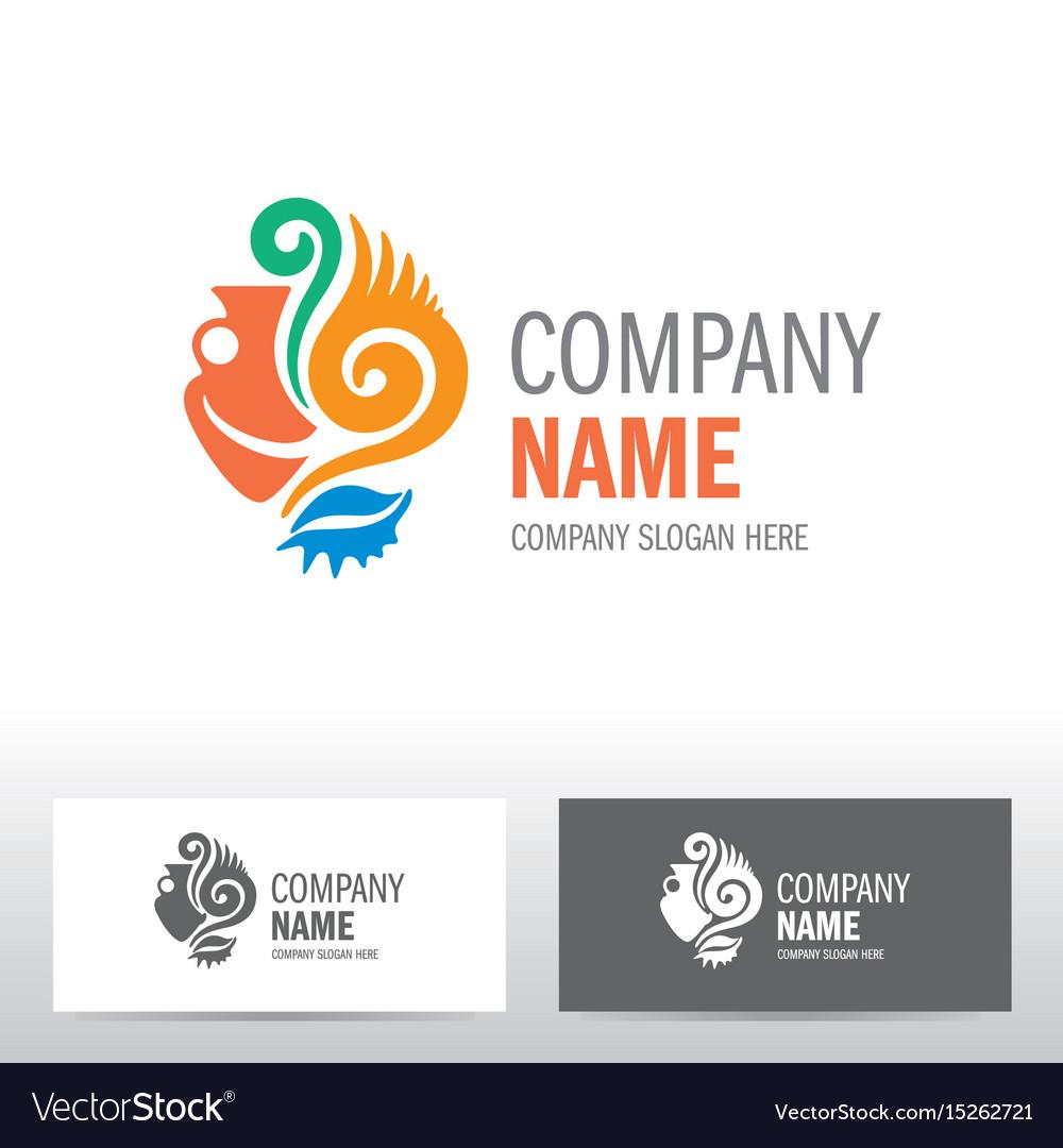 Travel logo design with amphora