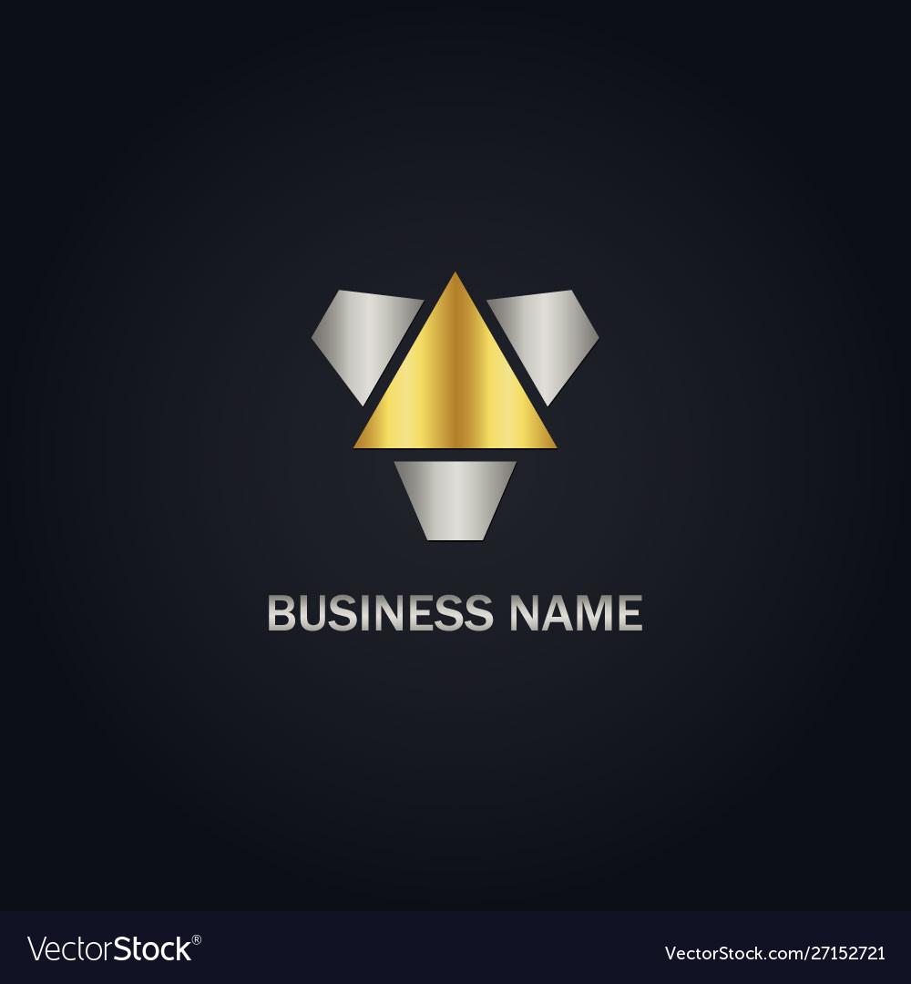 Triangle gold logo