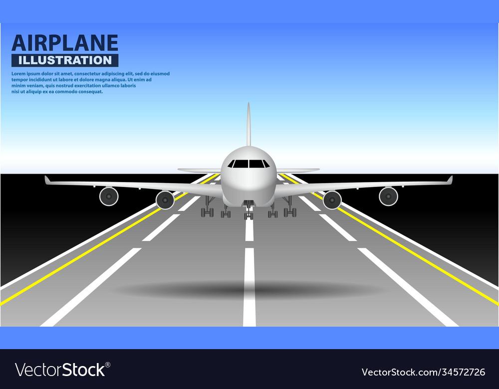 Set realistic airplane mock up or landing