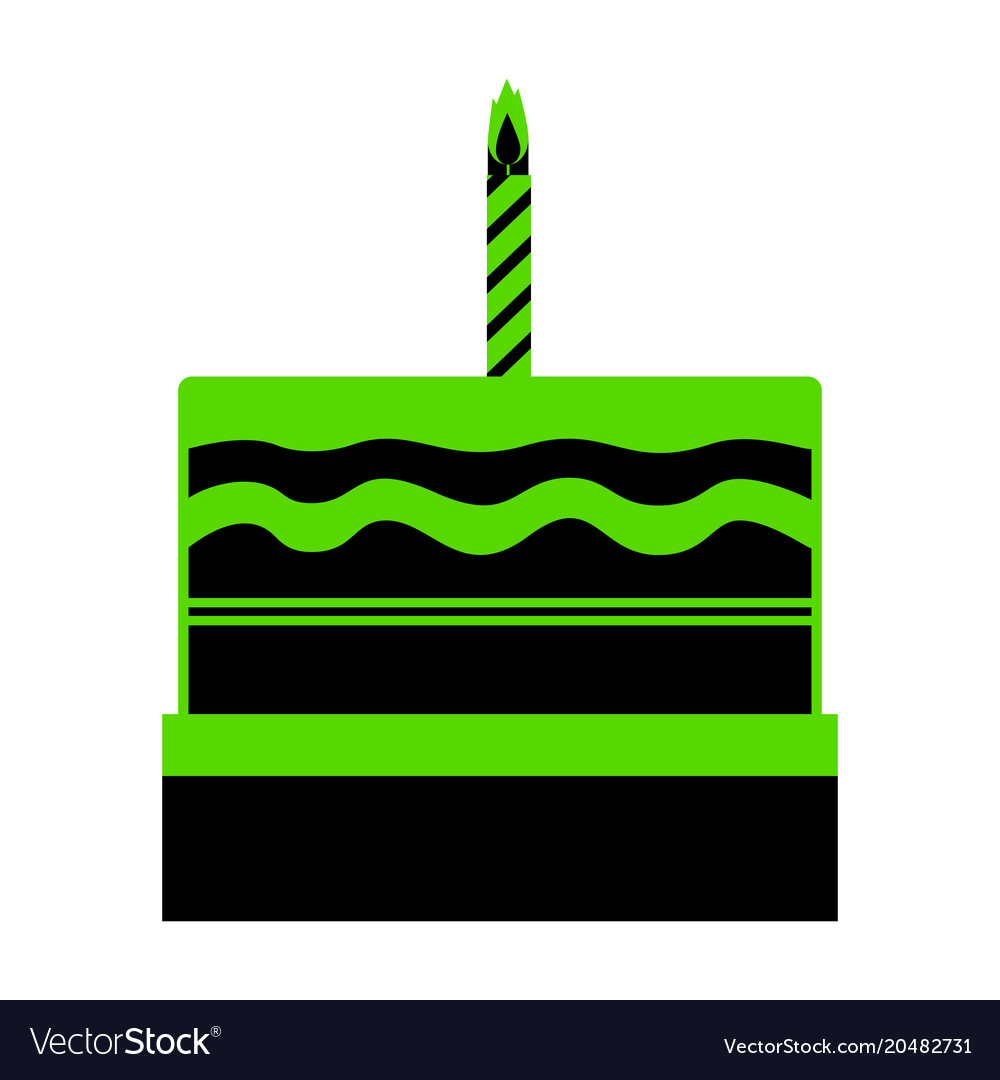 birthday cake sign green 3d icon with royalty free vector rh vectorstock com  cake icon vector free download