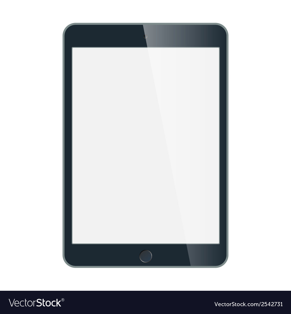 Black business tablet in iPad style isolated on