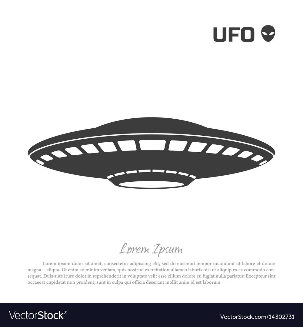 Black silhouette ofa ufo on white background vector image