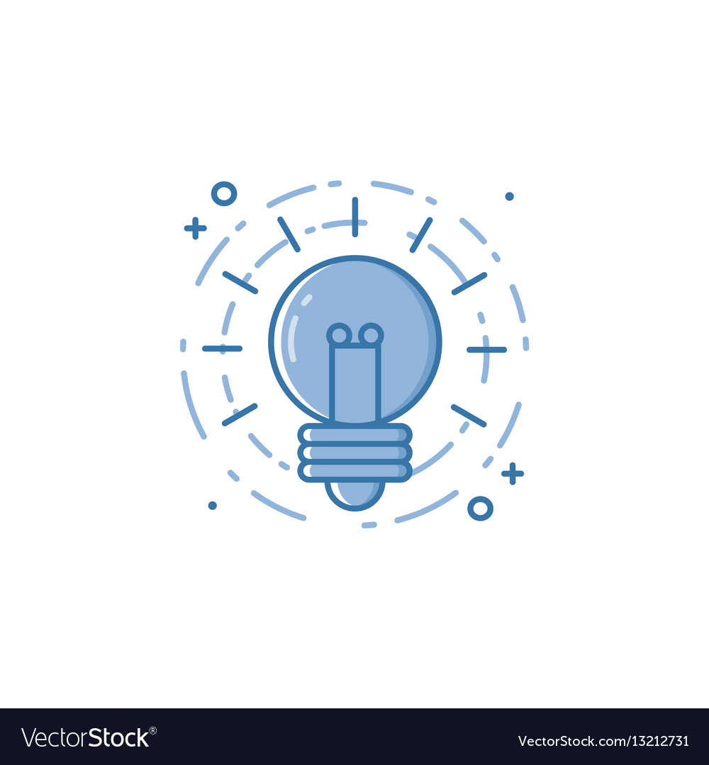 Business of light bulb in flat vector image