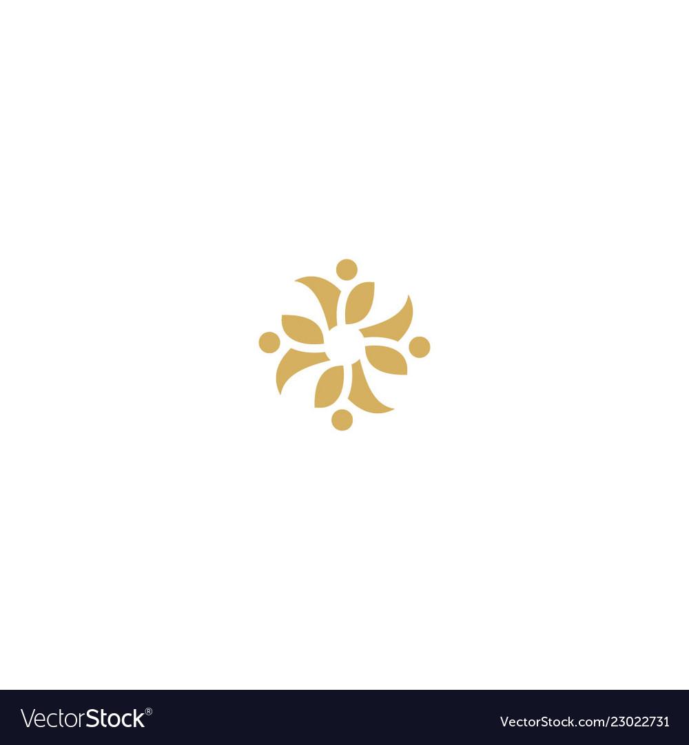 Circle floral decorative logo