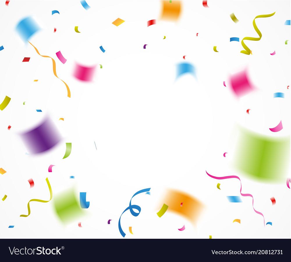 Colorful confetti for celebration