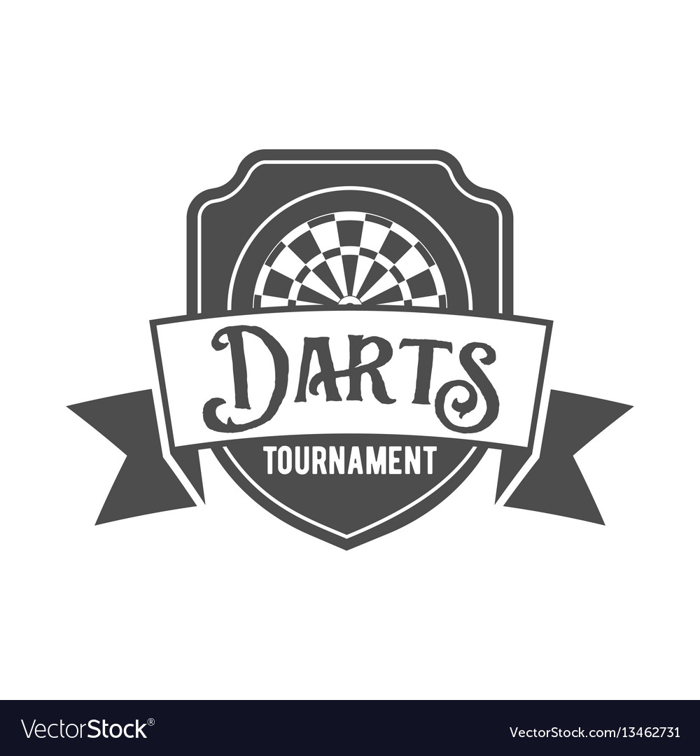 Darts label badge log