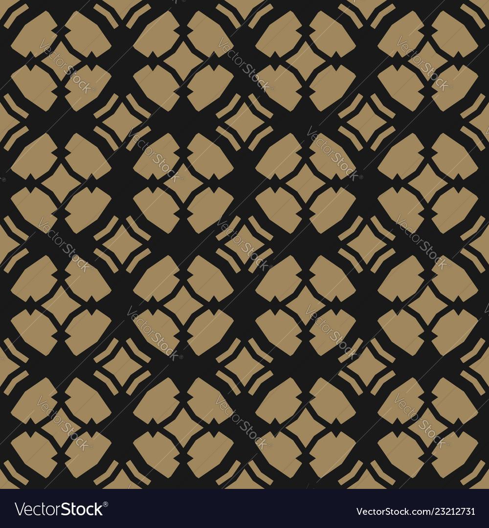 Gold black ornament geometric oriental pattern