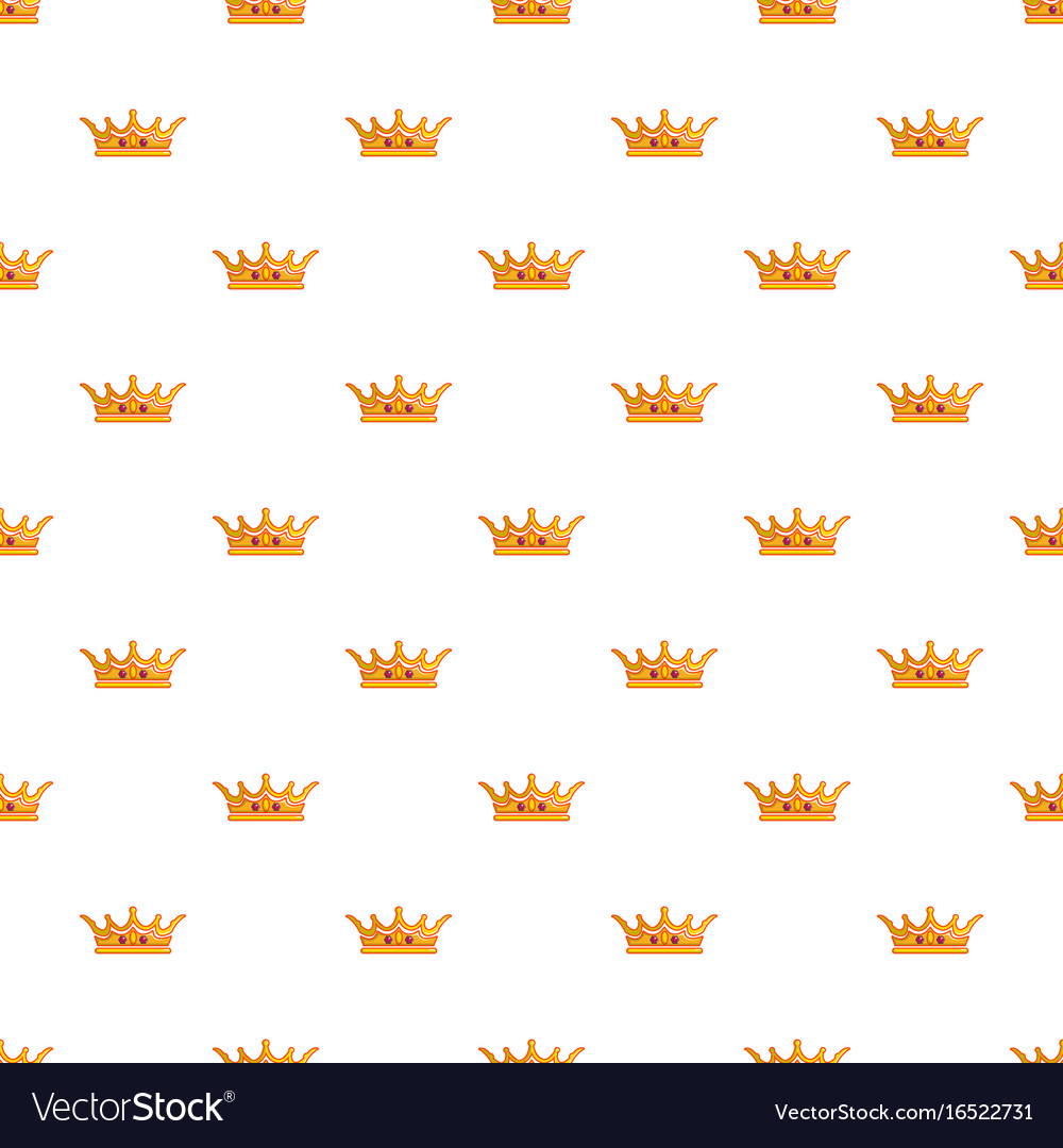queen crown pattern seamless royalty free vector image