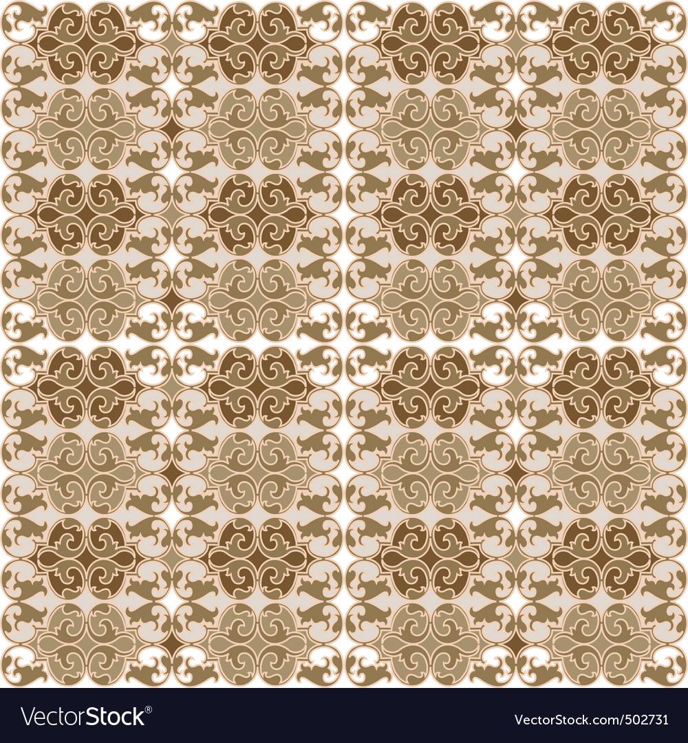 Retro wallpaper tapestry vector image
