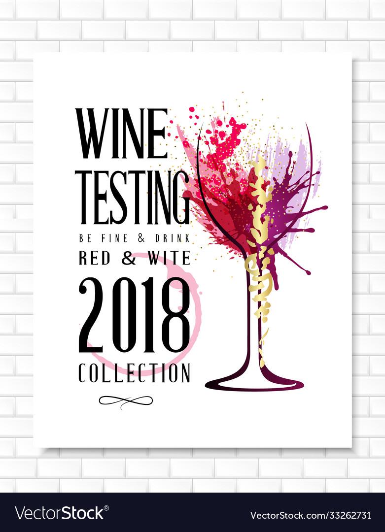 Wine list template for bar or restaurant menu