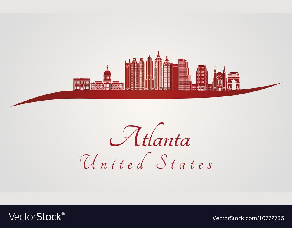 Atlanta v2 skyline in red