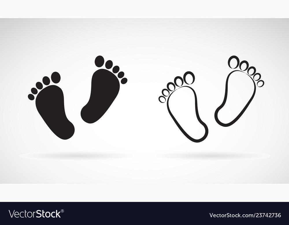 Baby foot icon flat style isolated on white