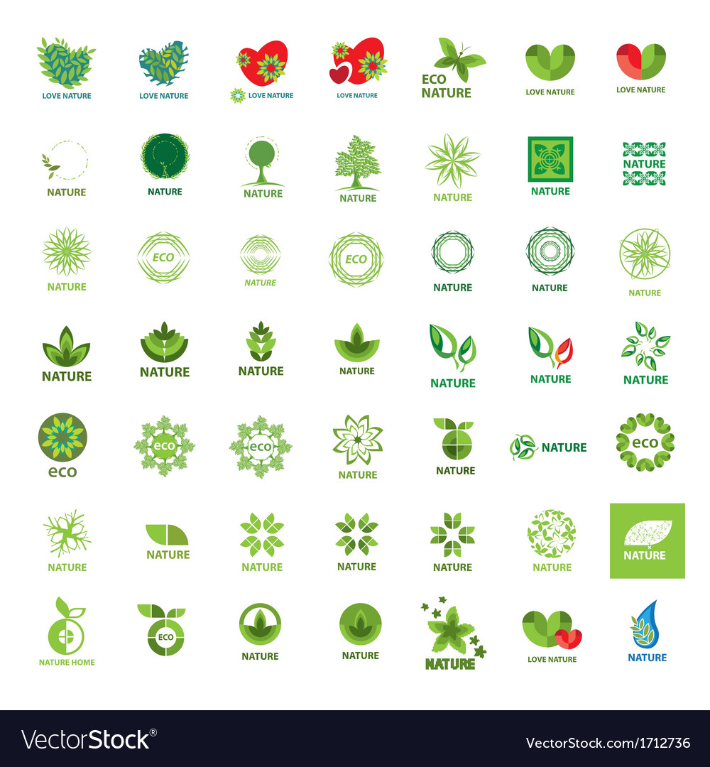 Biggest collection of logos eco and nature