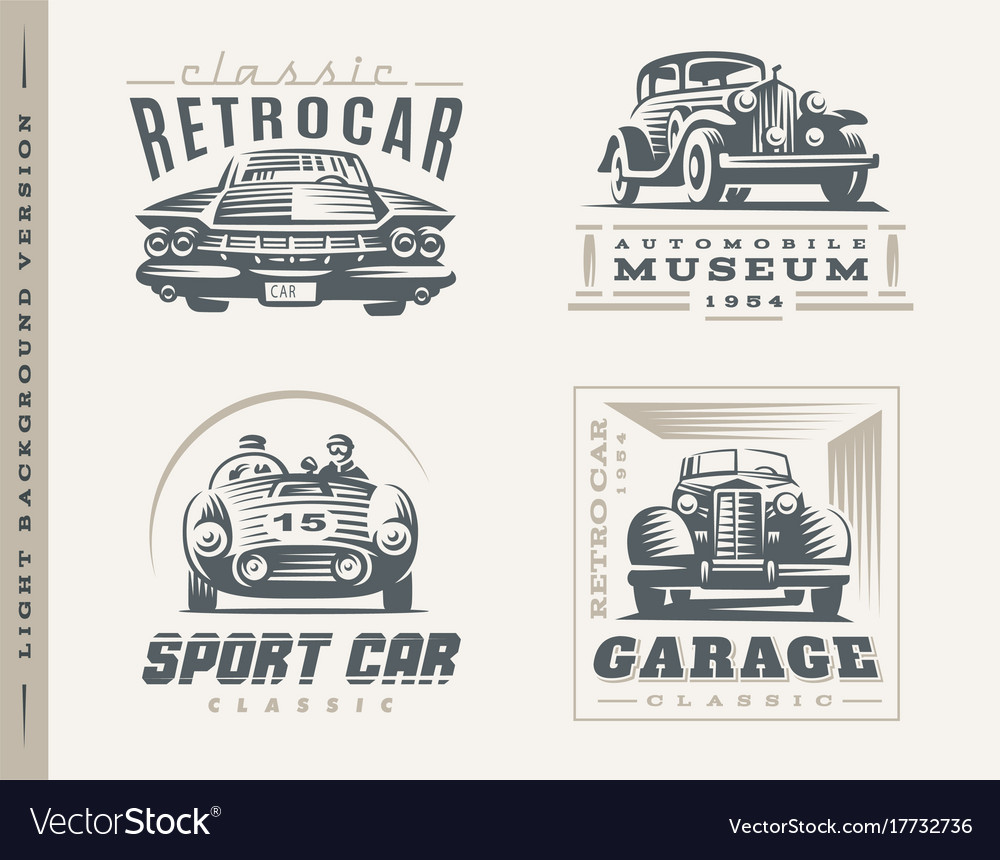 Classic cars on light background
