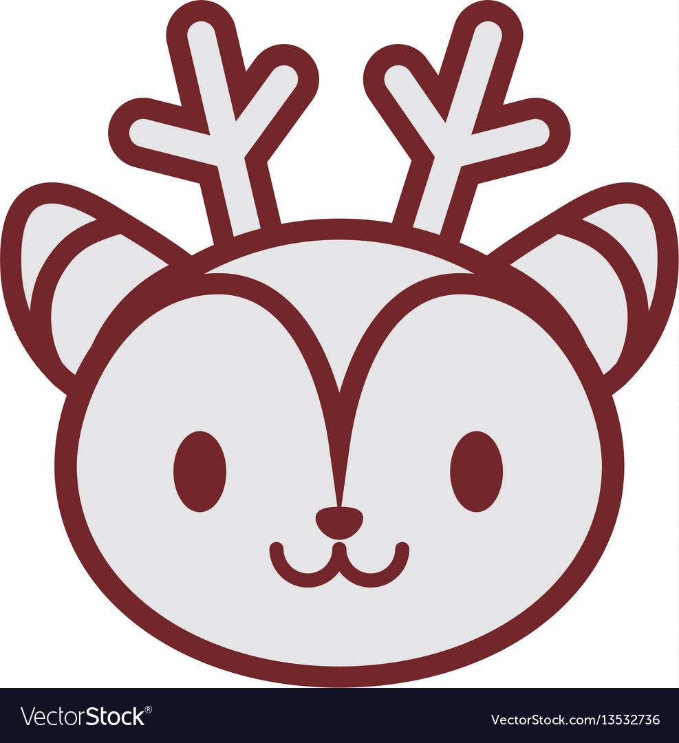 Cute deer face image