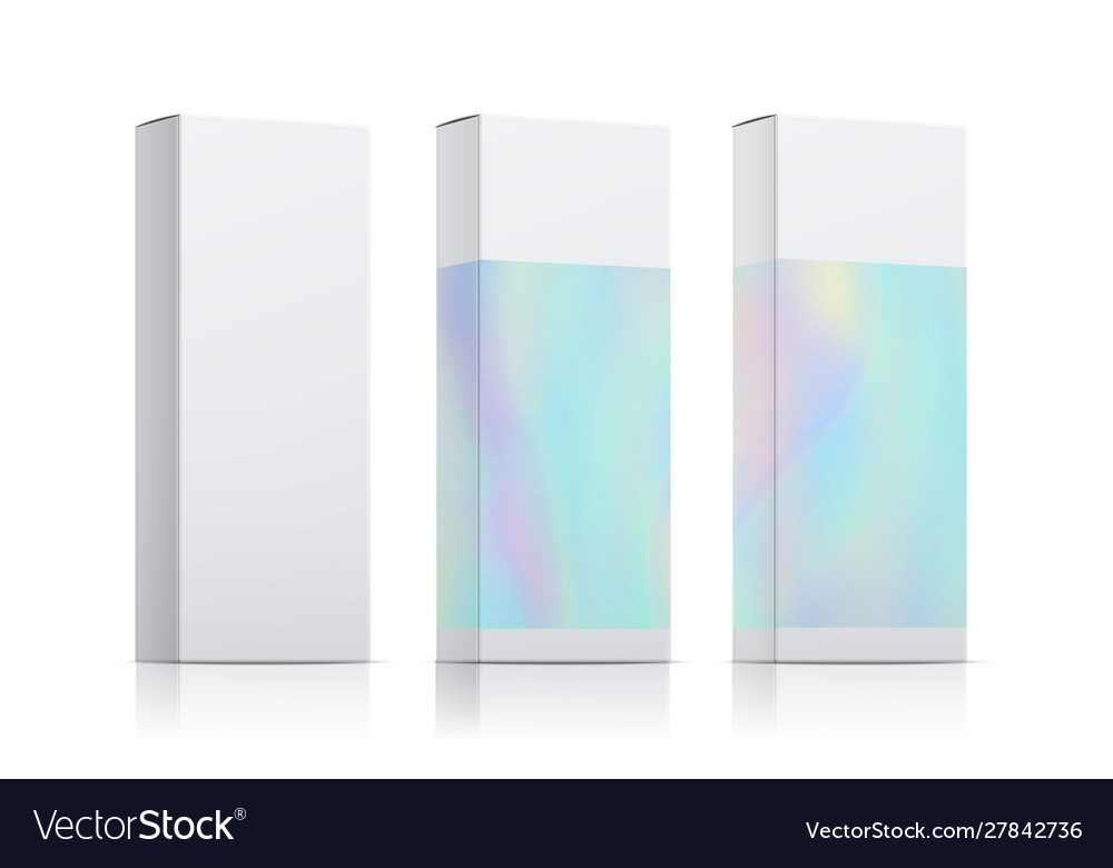 Packaging template set with holographic