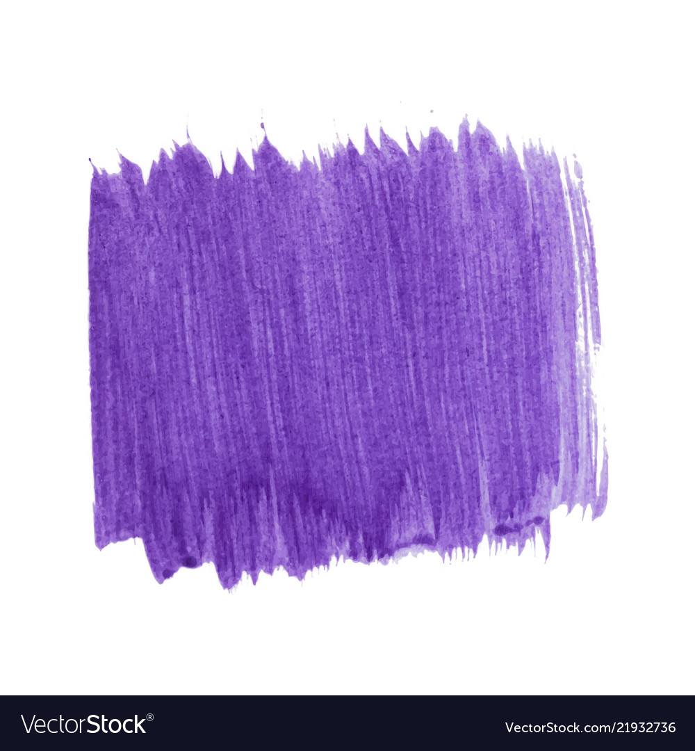 Purple Abstract Watercolor Isolated On White