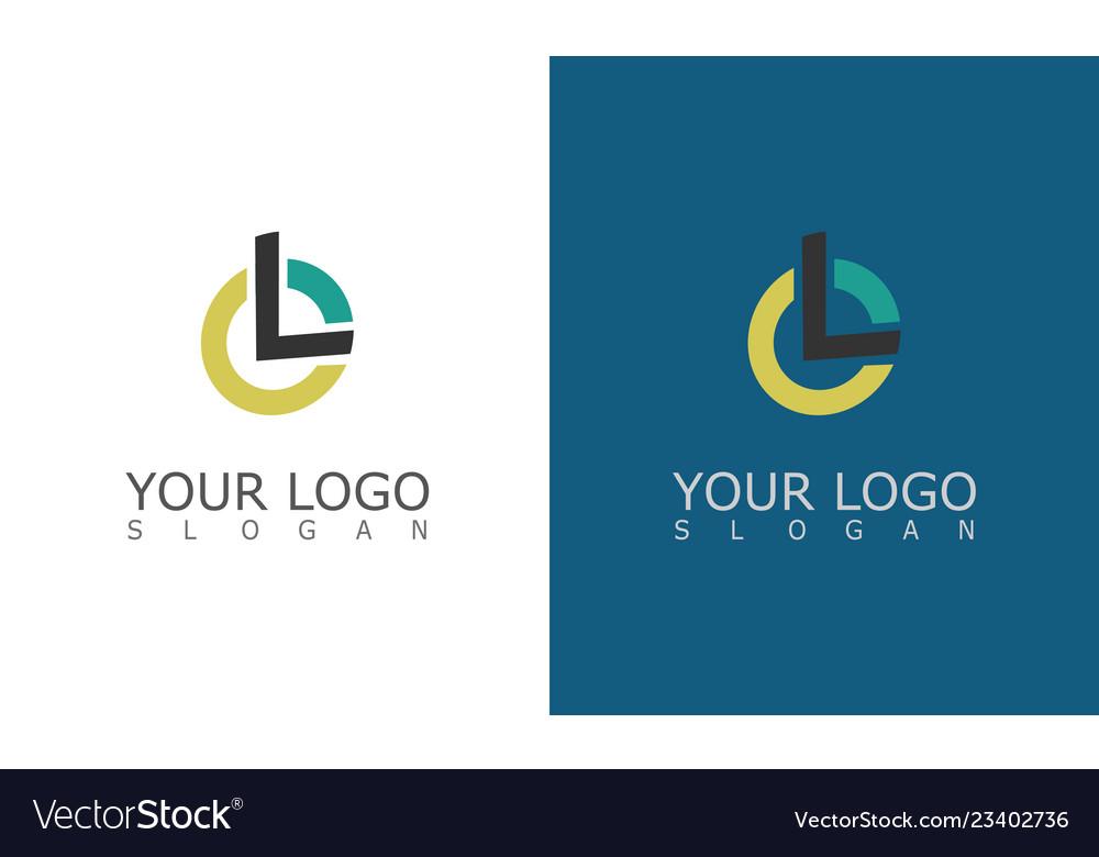Round letter l logo