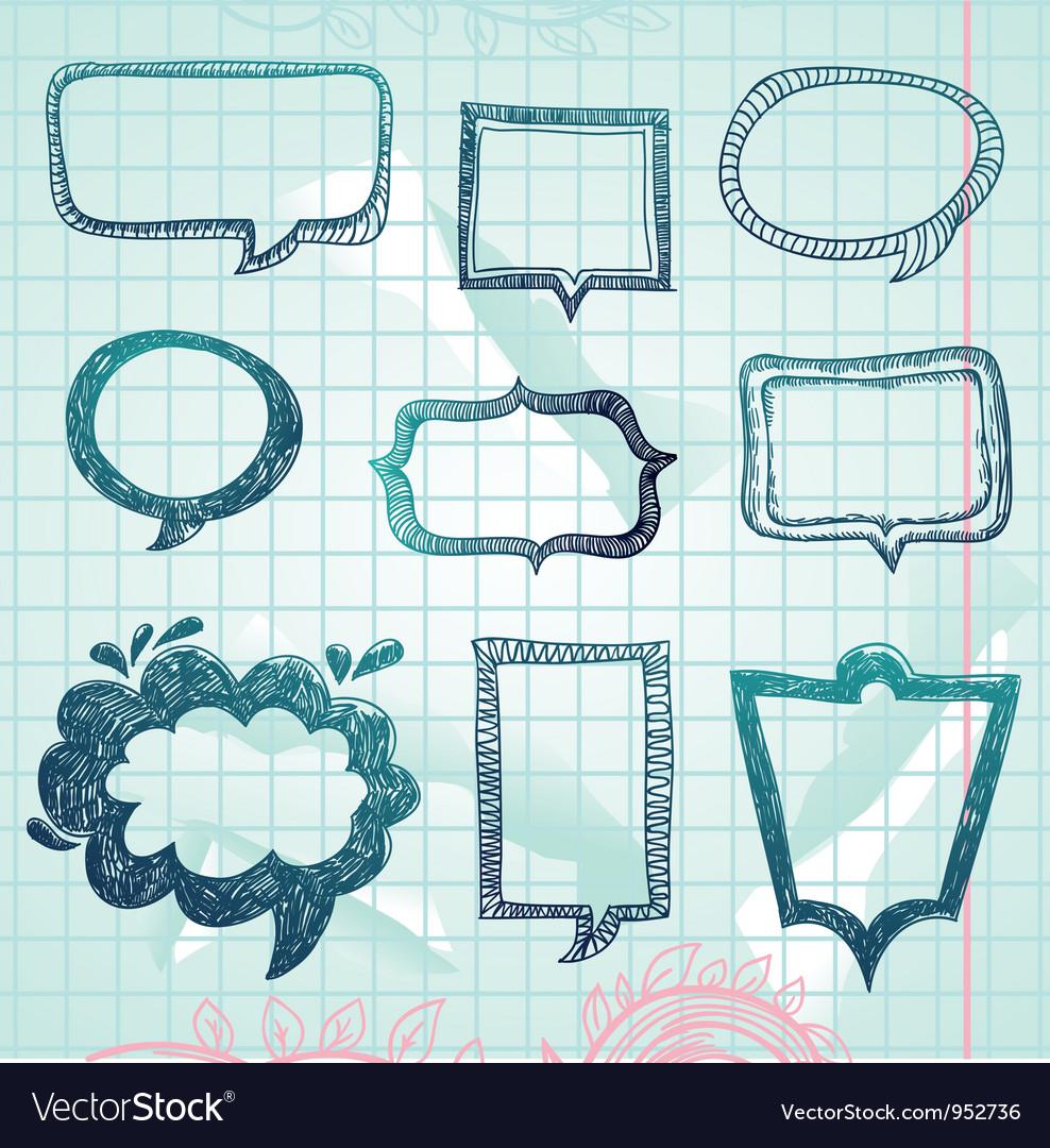 Speech bubbles - hand-drawn