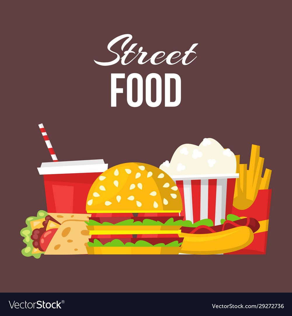 Street fast food posters or banner