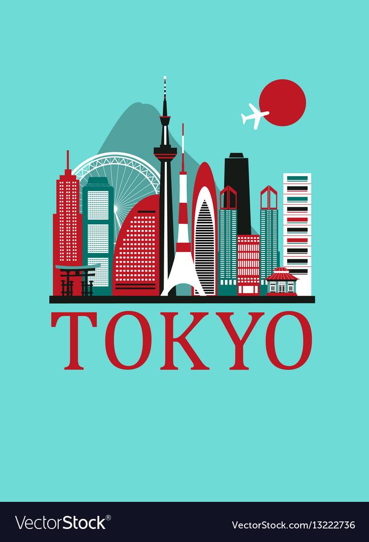 Tokyo travel background