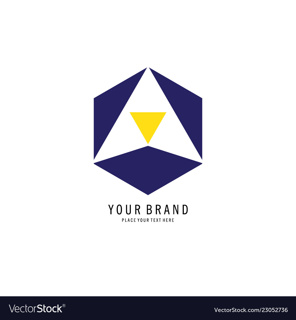 Triangle in hexagon logo