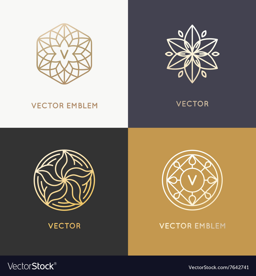 Abstract monograms and logo design templates