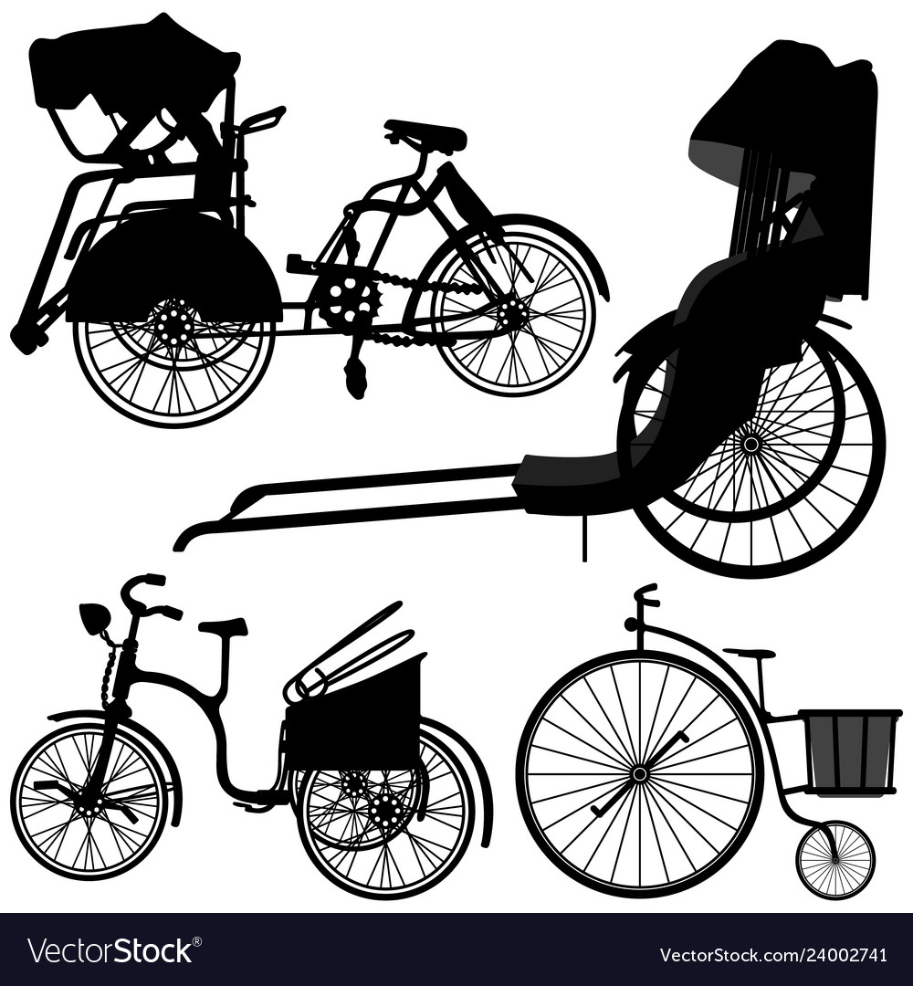 Bicycle trishaw tricycle old wheel a set of